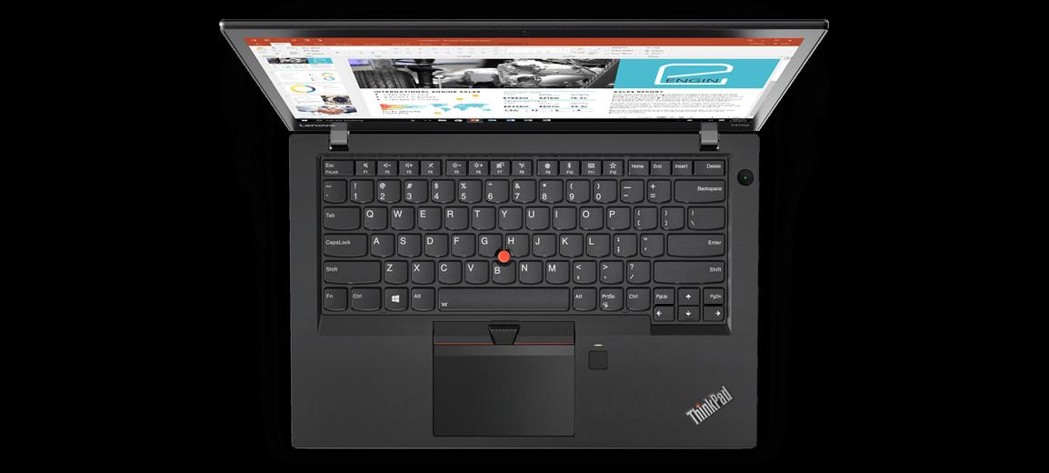 Lenovo ThinkPad T470s Overhead View