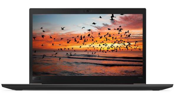 Lenovo ThinkPad T480s - Front-facing shot of the vibrant, sharp 14