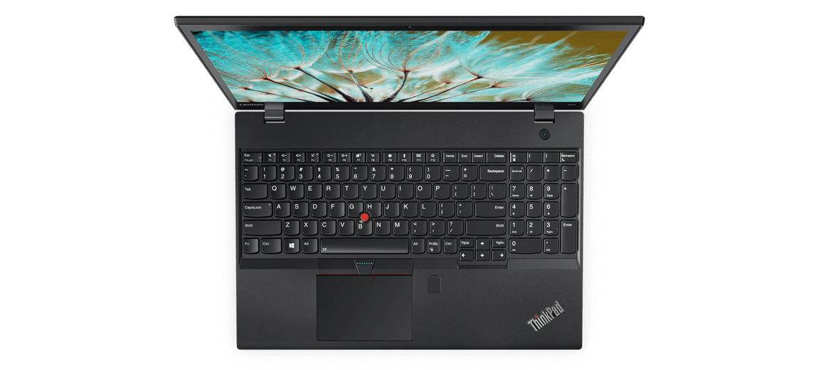 Lenovo ThinkPad T570 Overhead View