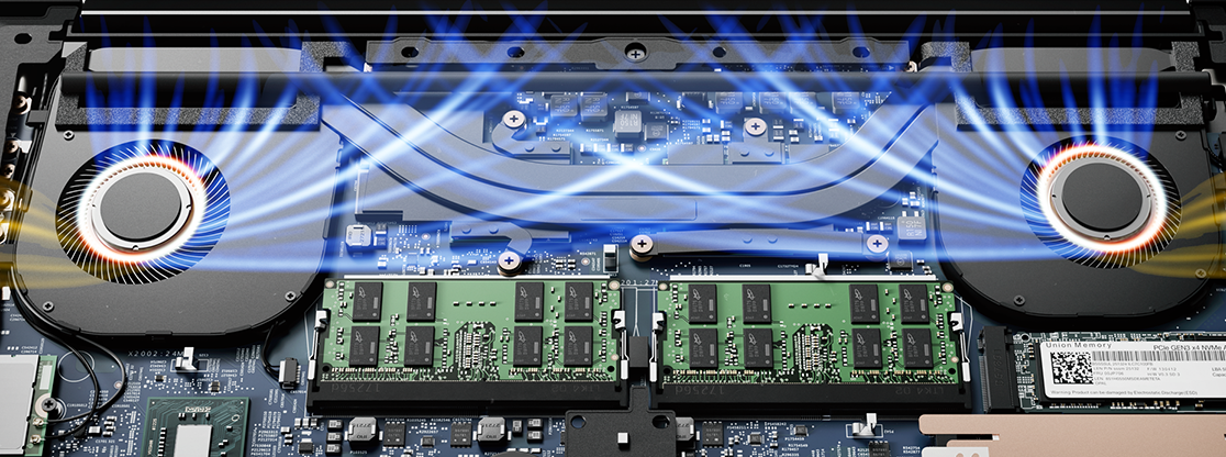 Internal workings of the Lenovo ThinkPad X1 Extreme.