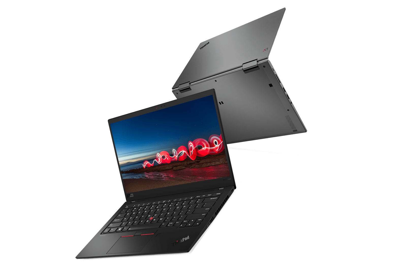 Two ThinkPad X1 Carbon laptops