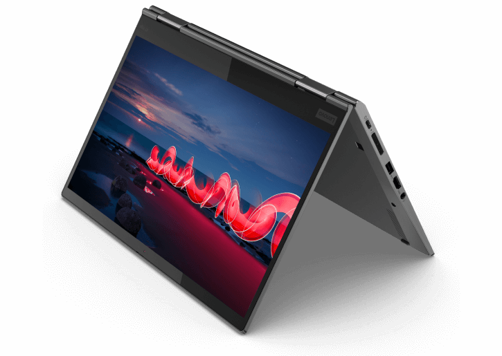 Lenovo 2-in-1 ThinkPad X1 Yoga Gen 5 tent mode