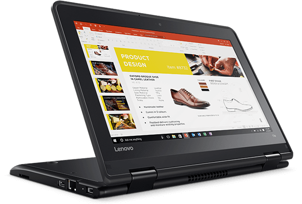 Lenovo ThinkPad Yoga 11e in Stand Mode
