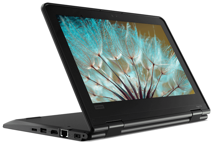 Le Lenovo ThinkPad Yoga 11e (5e génération) en mode support.