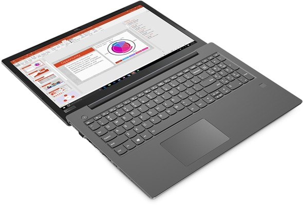 Lenovo V330 (15) open 180 degrees and laying flat