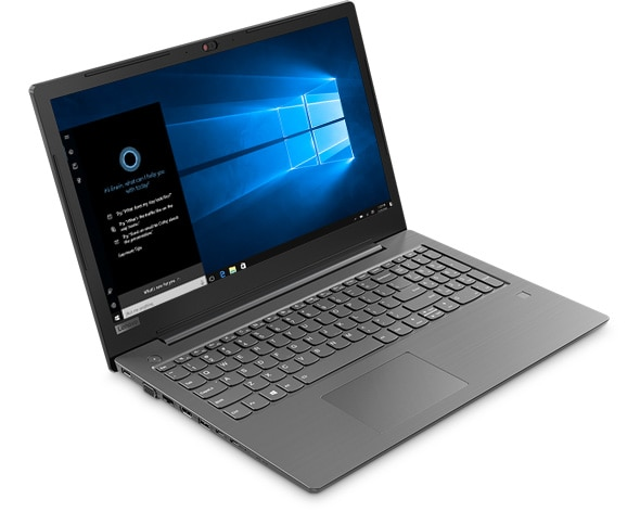 Lenovo V330 (15), front left side view featuring Cortana
