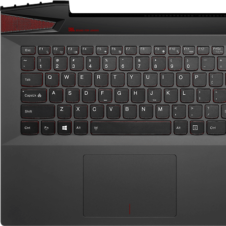 Lenovo Y50 keyboard view
