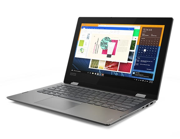 Lenovo Yoga 330 2-in-1 in laptop mode, front right side view