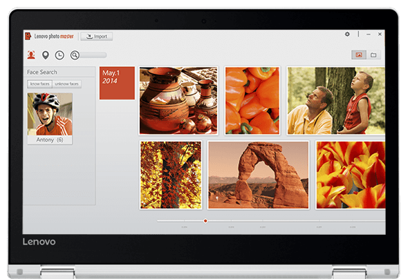 Lenovo Yoga 510 (14) display featuring Lenovo Photo Master 2.0