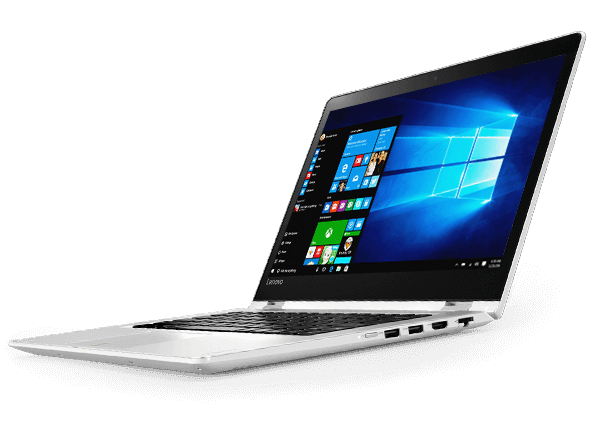 Lenovo Yoga 510 (14) front right side view, featuring Windows 10