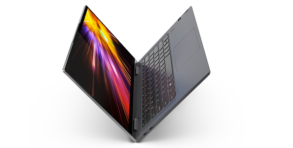 Lenovo Flex (Yoga) 5G is sleek 2-in-1 laptop in premium aluminum and soft-touch magnesium body, weighs 1.3 kg only.