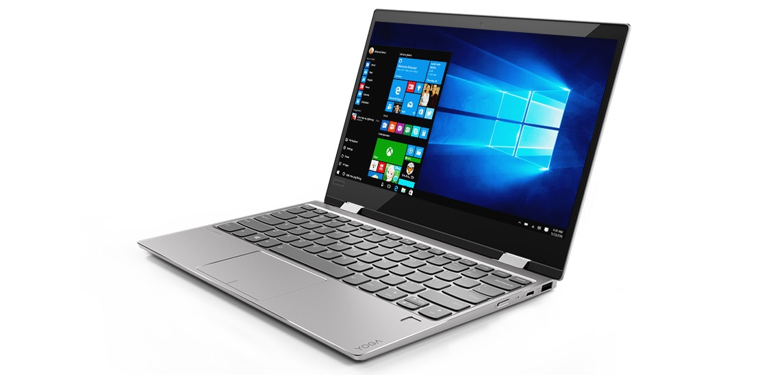 Lenovo Yoga 720 (12) front right side view featuring Windows 10