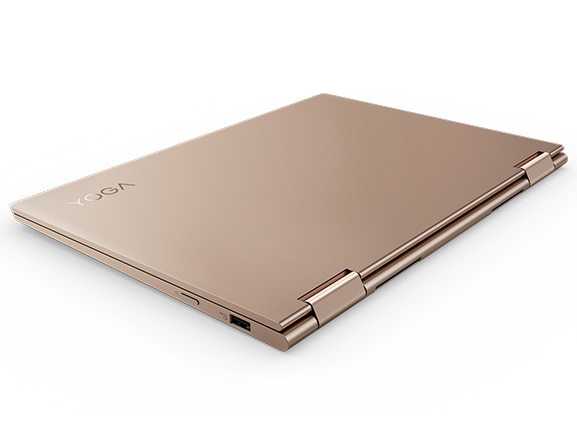 Lenovo Yoga 730 (13) laptop, copper model, hinge