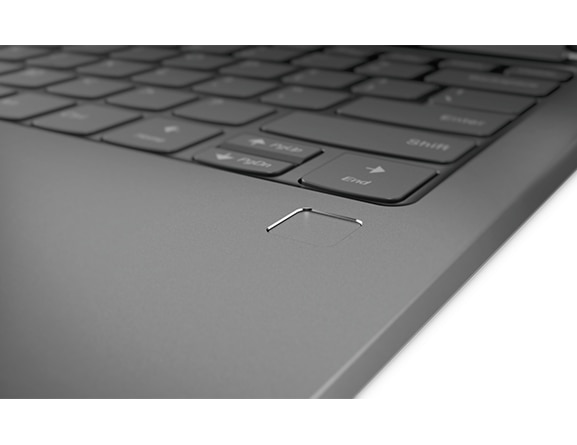 Lenovo Yoga 730 (13) laptop fingerprint reader closeup