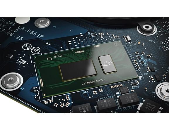 Lenovo Yoga 730 (15) laptop processor closeup