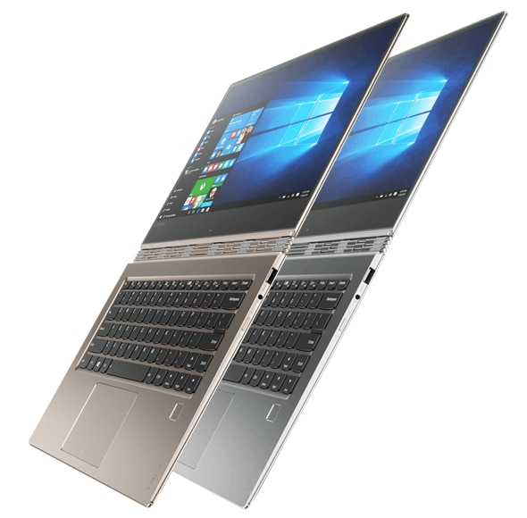 Side shot of the ultra-thin Lenovo Yoga 910-13IKB