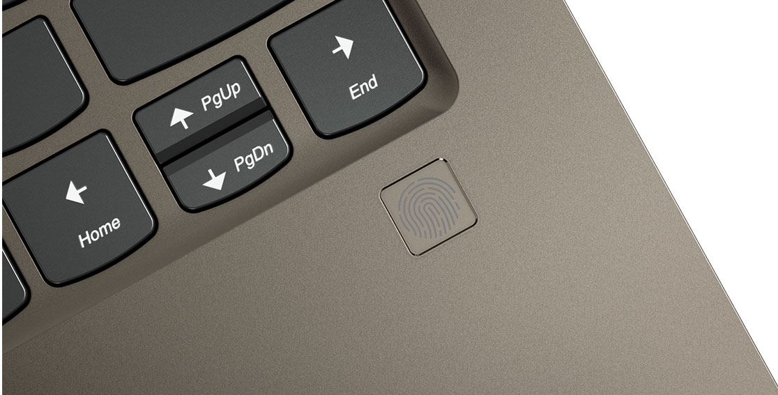 Lenovo Yoga 920 (13) fingerprint reader detail