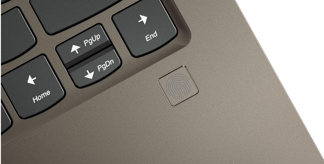 Lenovo Yoga 920 (13) fingerprint reader detail