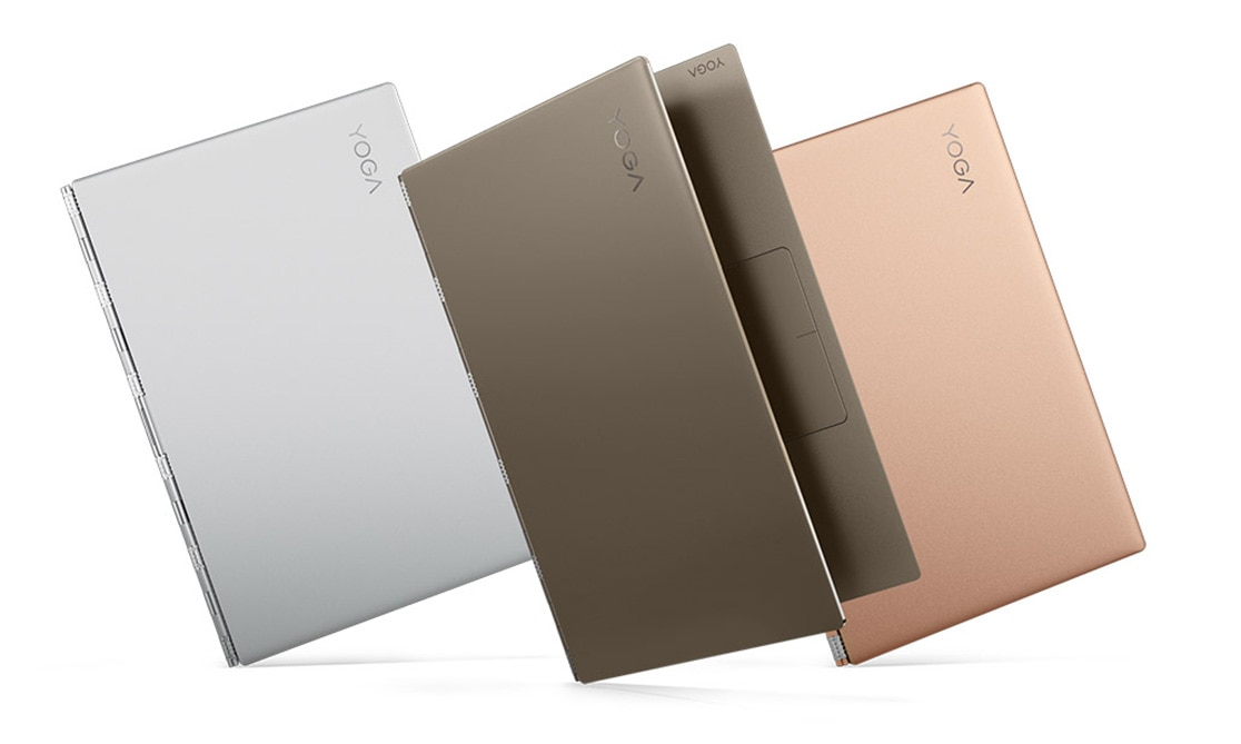 Lenovo Yoga 920 (13) in copper, bronze, and platinum