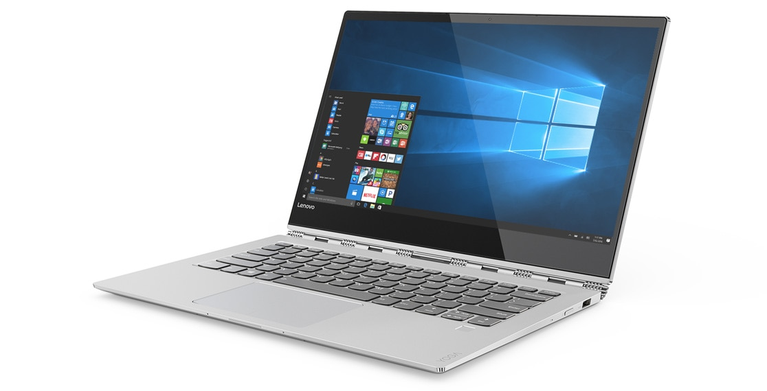 Lenovo Yoga 920 (13) in platinum, front right side view