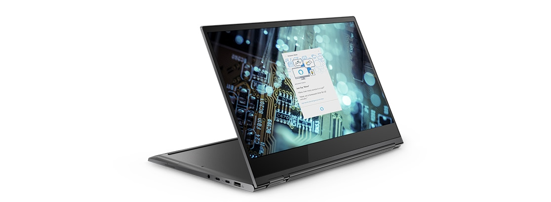 Lenovo Yoga C930 2-in-1 in watch mode with Cortana screenfill