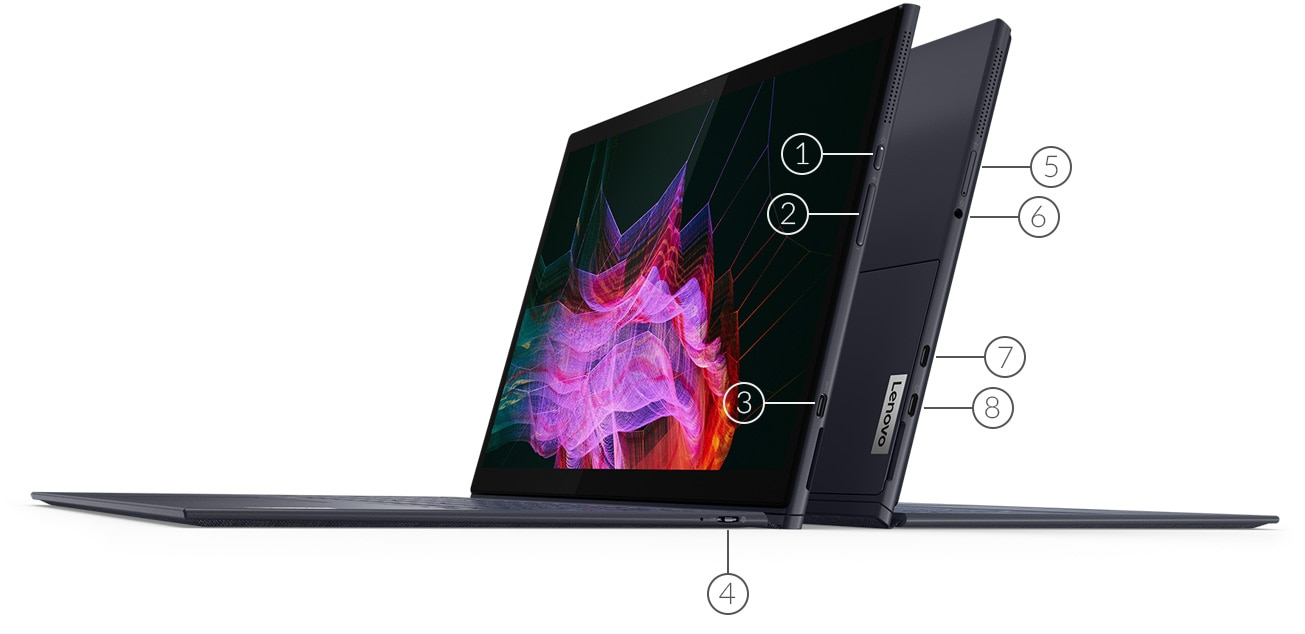 Yoga Duet 7 laptop showing ports