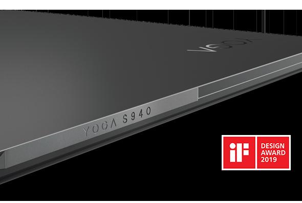 Lenovo Yoga S940, front angled closeup, device closed