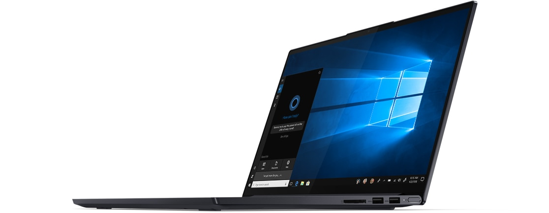 Side view of Lenovo Yoga Slim 7 (15) right ports