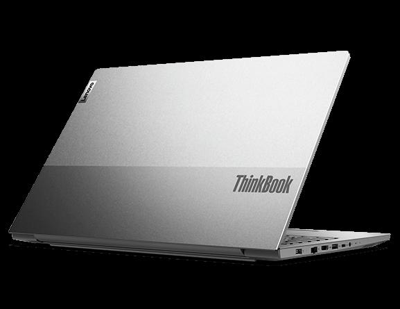 Lenovo ThinkBook 15p rear right three-quarter view