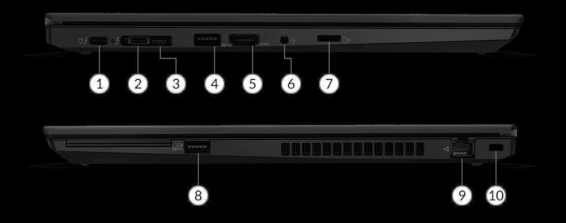 lenovo laptops thinkpad t series t15 gen2 intel ports