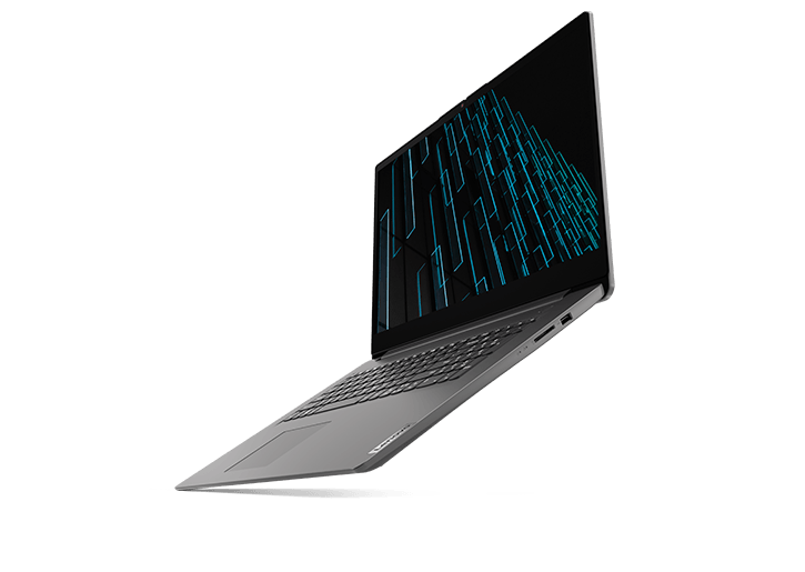 "Lenovo V17 Gen 2 (17"" Intel) laptop, front right angle view"