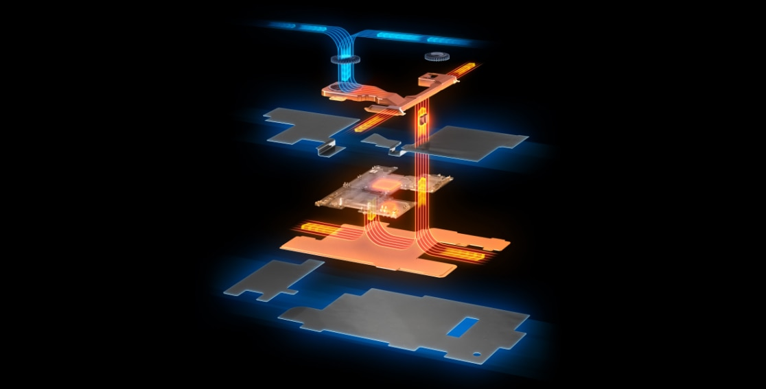 Diagram of Lenovo Legion Phone Duel 2 cooling system