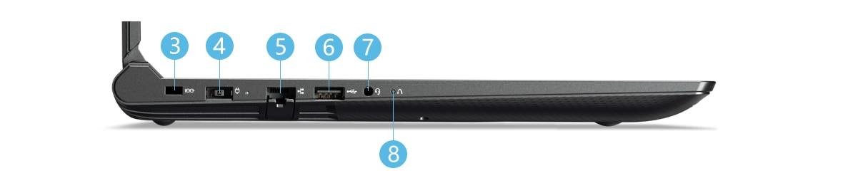 Lenovo-Y520 左側面