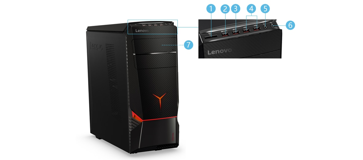Lenovo Legion Y720 Tower 正面
