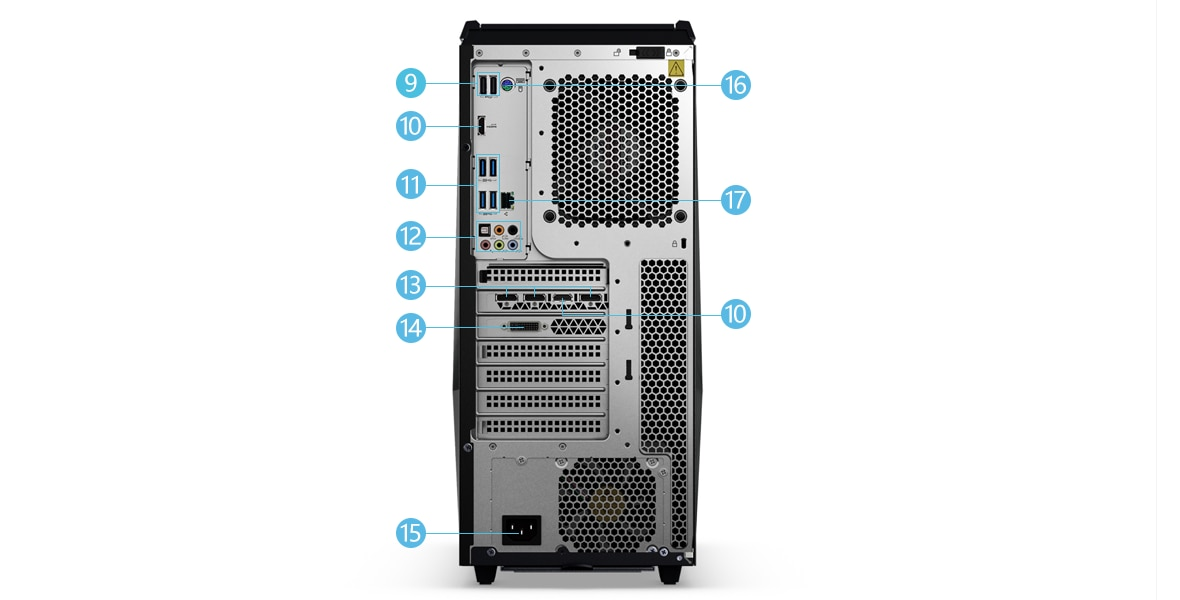 Lenovo Legion Y720 Tower 背面