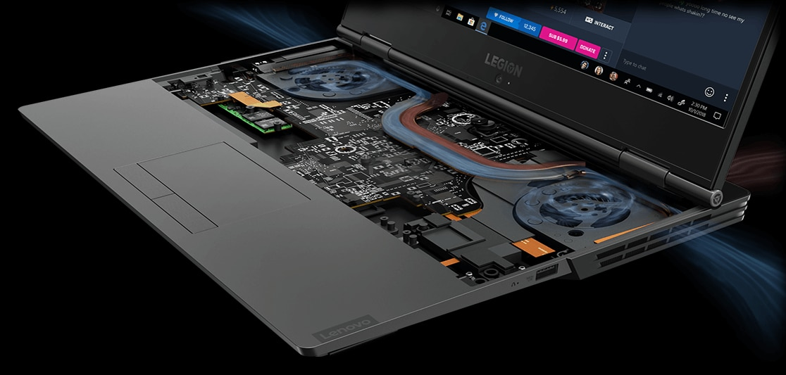 "Lenovo Legion Y740 15"" gaming laptop: Coldfront thermal system"