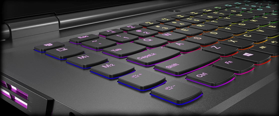 "Lenovo Legion Y740 15"" gaming laptop: Corsair iCUE RGB-backlit keyboard"