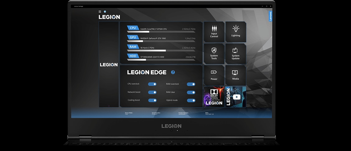 "Lenovo Legion Y740 17"" gaming laptop: Lenovo Vantage featuring Legion Edge"