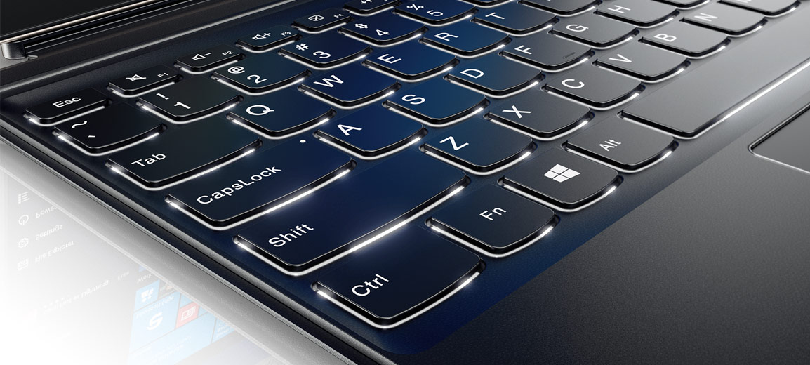Lenovo Miix 720, Back-lit Keyboard Detail
