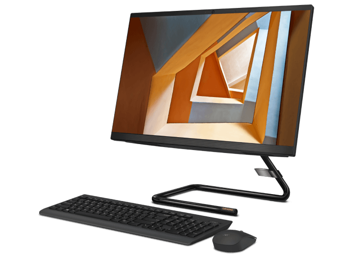 Lenovo IdeaCentre AIO 3 (22) Intel Front Angle View with Keyboard