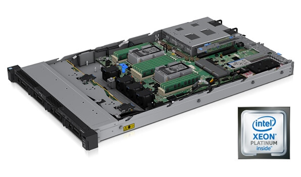 Lenovo ThinkSystem SR530 Internal Chassis View with Processor