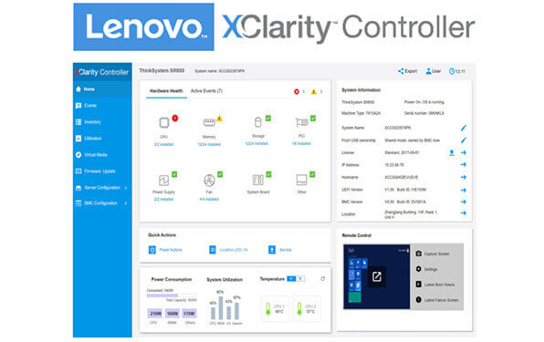 Lenovo ThinkSystem SR530 XClarity Controller
