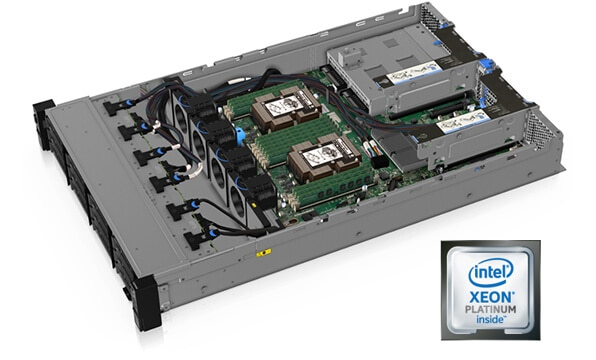 Lenovo ThinkSystem SR550 Top Internal View