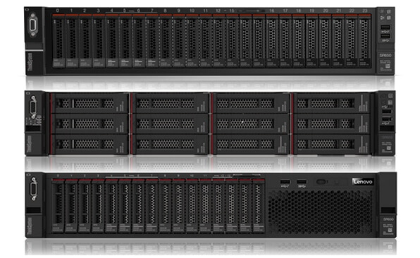 Lenovo ThinkSystem SR650 Three Rack Configurations