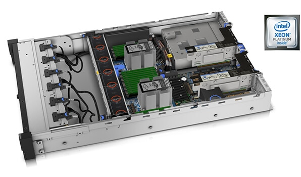 Lenovo ThinkSystem SR650 Internal View with Processor