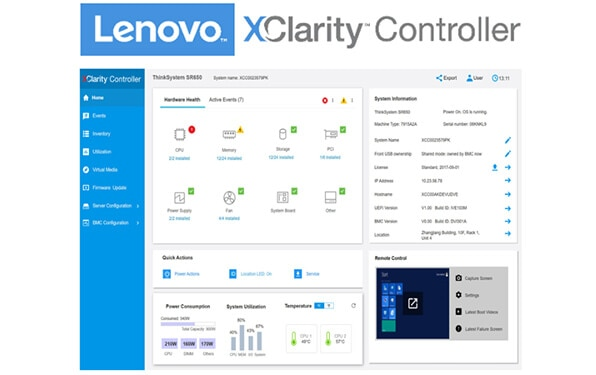 Lenovo ThinkSystem SR650 XClarity Controller Software