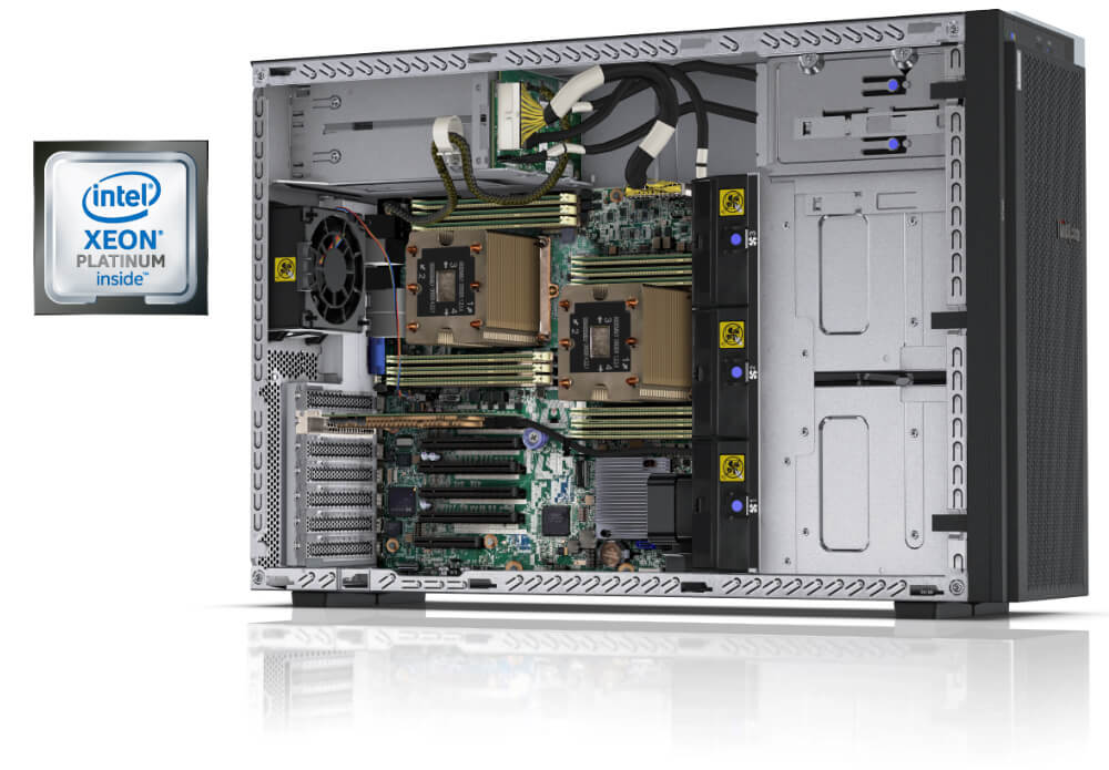 Lenovo ThinkSystem ST550 Internal View with Processor