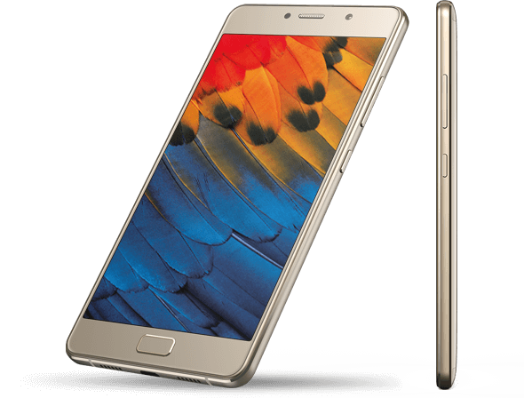 Super slim and great to hold, the Lenovo P2 comes in champagne gold, and graphite gray.