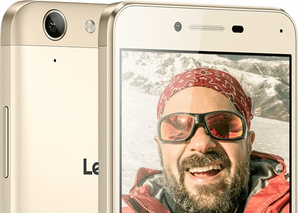 Lenovo Smartphone Vibe K5 Plus Front and Rear Cameras