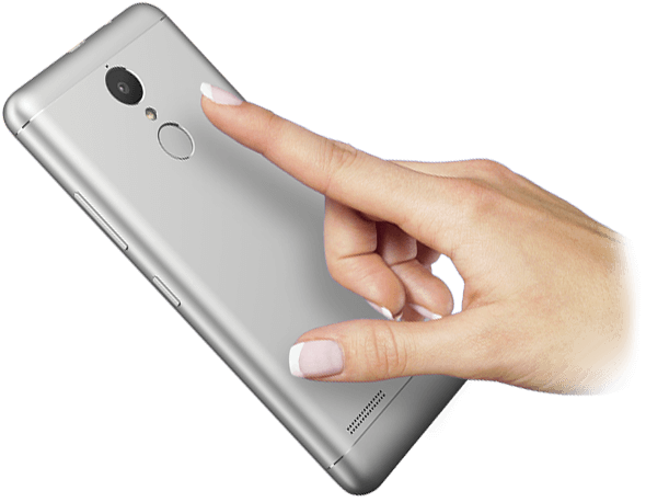 Lenovo Smartphone Vibe K6 Power Fingerprint Reader Feature